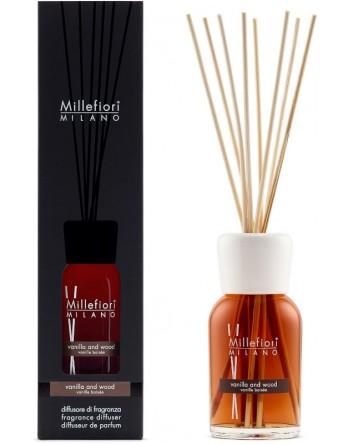 Millefiori Milano geurstokjes Vanilla & Wood - 250ml