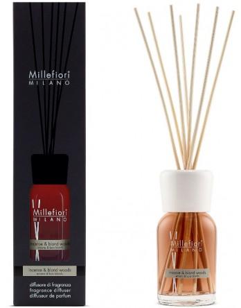 Millefiori Milano geurstokjes Incense & Blond Wood 100ml