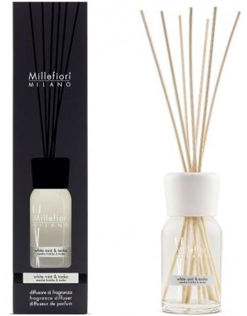 Millefiori Milano geurstokjes White Mint en Tonka 100ml