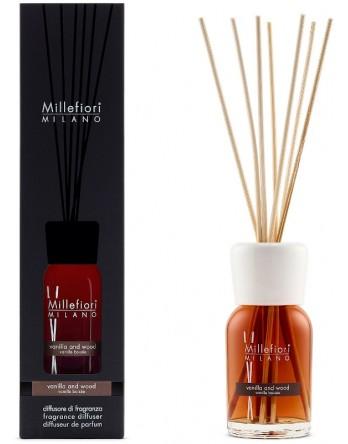 Millefiori Milano geurstokjes Vanilla & Wood - 100ml