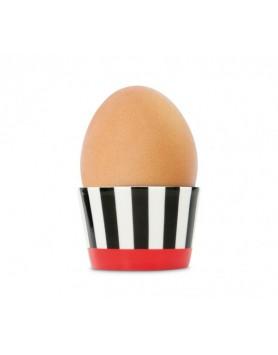 Remember eierdop porselen - black stripes