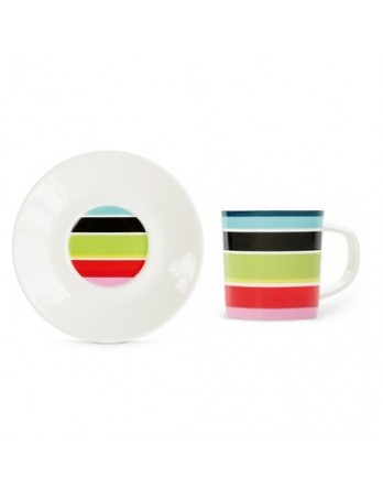 Remember - espresso kop + schotel - stripy