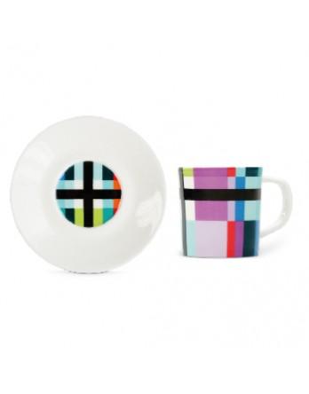 Remember - espresso kop + schotel - zigzag