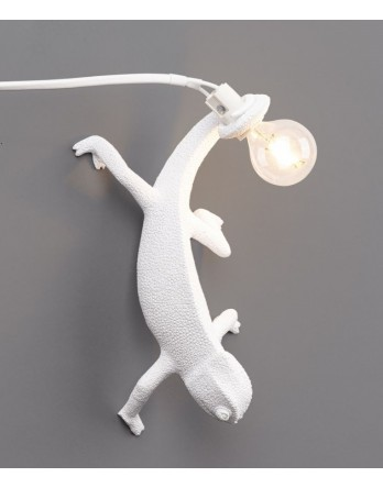 Seletti Chameleon Right Going Down lamp wit