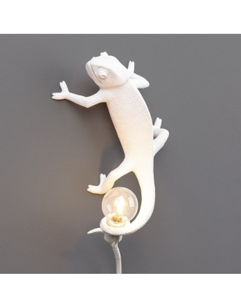 Seletti Chameleon Left Going Up lamp wit