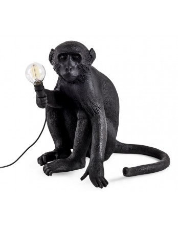 Seletti Monkey zittend lamp - zwart - outdoor