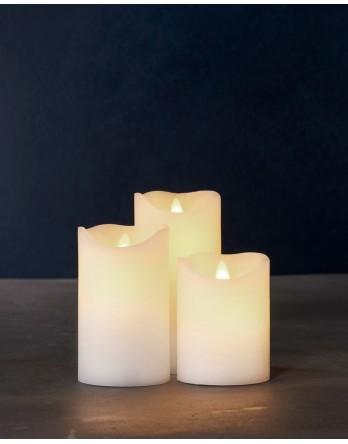 Sirius Sara kaarsen exclusief met beweegbare vlam 3 stuks