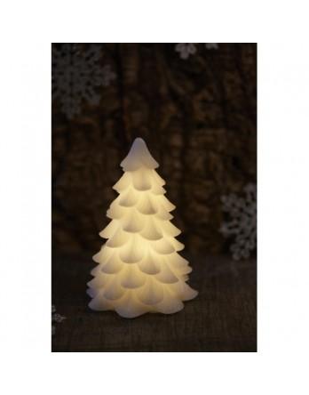 Sirius Carla kerstboom 19 cm wit, led verlichting