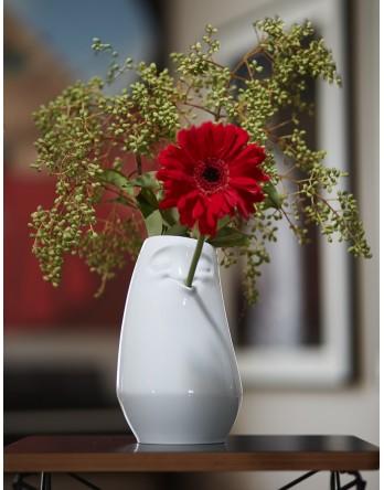 Tassen - Vaas Entspannt - relaxt - bloemenvaas - wit