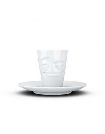 Tassen  - espresso kop en schotel - verschmitzt
