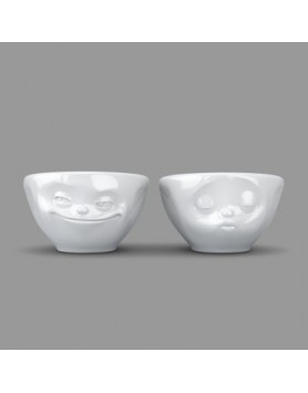 Tassen - Happy Faces schaal set Kiss & Grin - 100ml