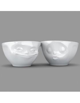 Tassen - Happy Faces schaal set Kiss & Grin - 200ml