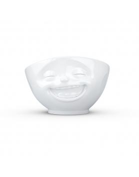Tassen - Happy Faces - Kom Smiling - 500ml wit