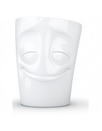 Tassen - Happy Faces - mok met oor - cheery wit