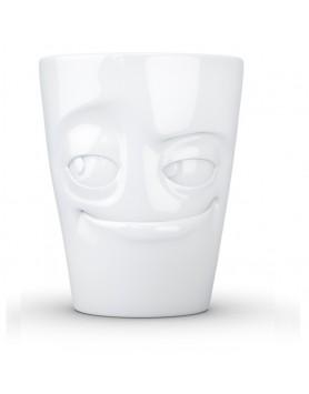 Tassen - Happy Faces - mok met oor - impish wit