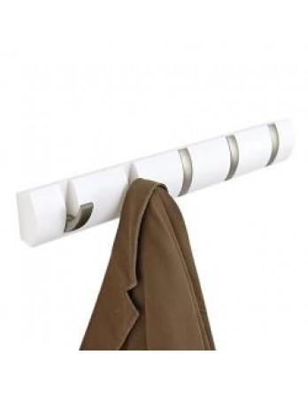 Umbra Flip - kapstok - 5 haken 55cm - wit
