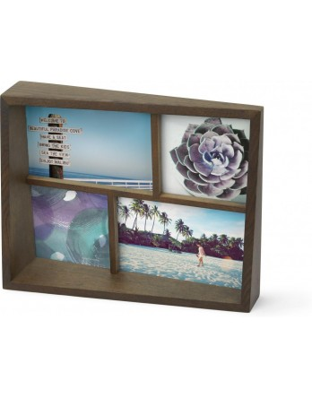 Umbra Edge Multi Foto display / fotolijst - walnoten