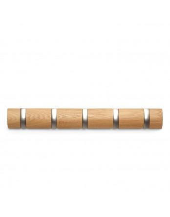 Umbra Flip - kapstok - 5 haken 55cm - naturel