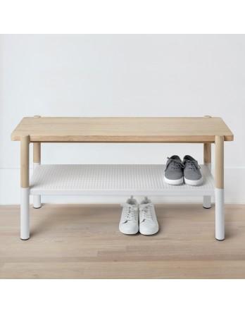 Umbra Promenade Bench / schoenenrek - essenhout / wit