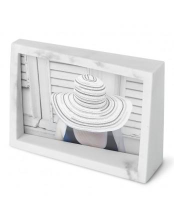Umbra Edge Foto display / fotolijst - wit marmer 15x10