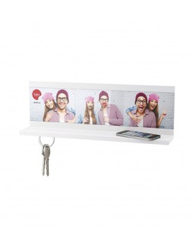 Balvi shelf sleutelhouder Selfie foto wit