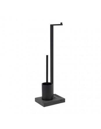 Blomus Menoto toiletbutler / toilet set zwart