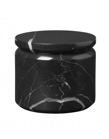 Blomus Pesa bewaardoos marmer met deksel zwart