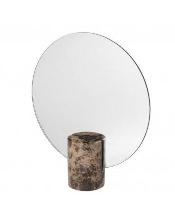 Blomus Pesa staande tafel spiegel marmer bruin