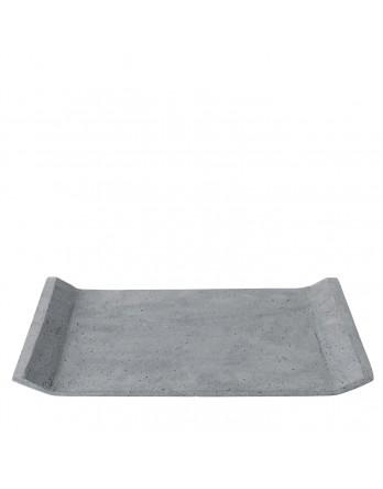 Blomus tray Moon polystone grijs 29x39
