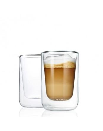Blomus Nero dubbelwandig glas cappuccino 2x