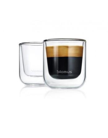 Blomus Nero dubbelwandig glas espressso 2 st