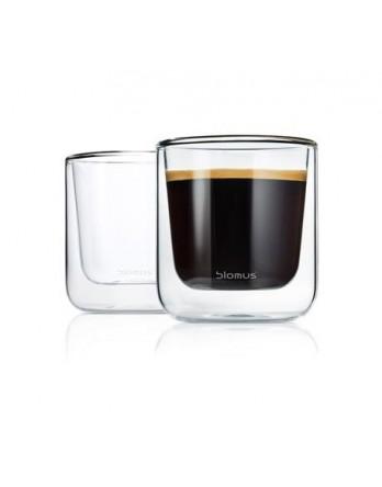 Blomus Nero dubbelwandig glas - koffie - 2 st
