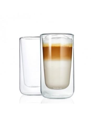 Blomus Nero dubbelwandig glas latte - 2x