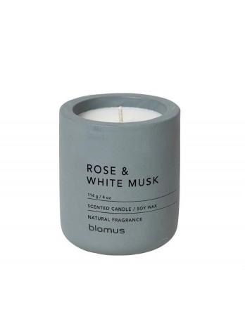 Blomus Fraga geurkaars beton M rose - white musk