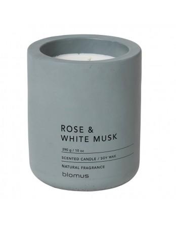 Blomus Fraga geurkaars beton L rose - white musk