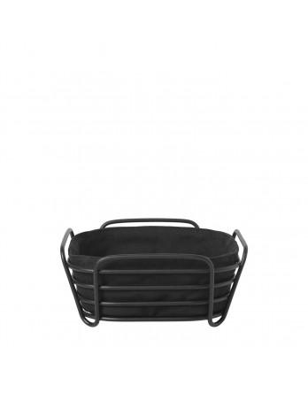 Blomus Delara broodmand - zwart 20x20cm