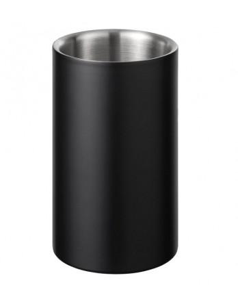 Blomus Easy wijnkoeler zwart RVS dubbelwandig