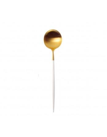 Cutipol Goa bestek wit mat goud - dessertlepel