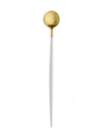 Cutipol Goa bestek wit mat goud - longdrink lepel