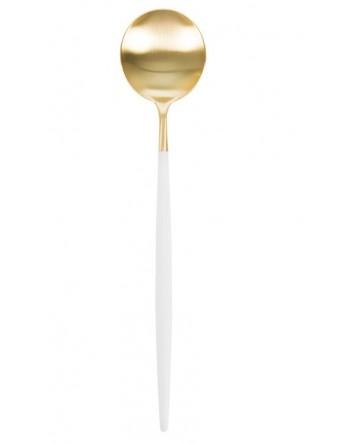 Cutipol Goa bestek wit mat goud - dinerlepel