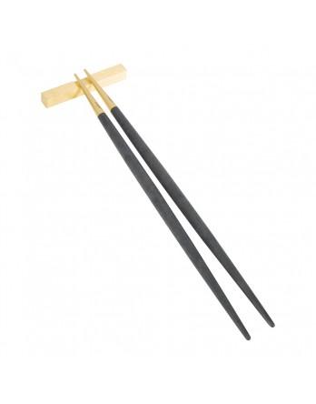 Cutipol Goa Zwart Goud mat chopsticks / eetstokjes set