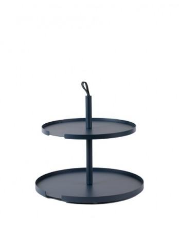 DesignBite Cake Stand - etagere 2 laag metaal blauw