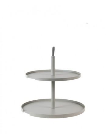 DesignBite Cake Stand - etagere - 2 laags metaal grijs