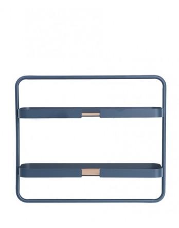 DesignBite Big Hug wandrek shelf low - metaal - blauw