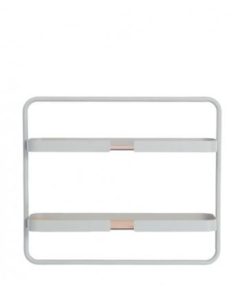 DesignBite Big Hug wandrek shelf low - metaal - grijs