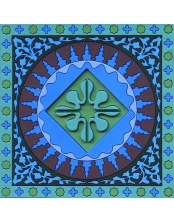 Images Oriënt onderzetter Mosaïc Blauw