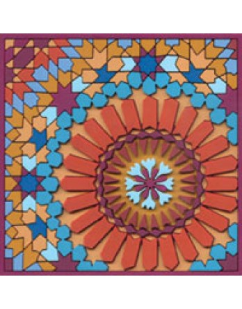 Images d'Oriënt onderzetter Moucharabieh Blue 3