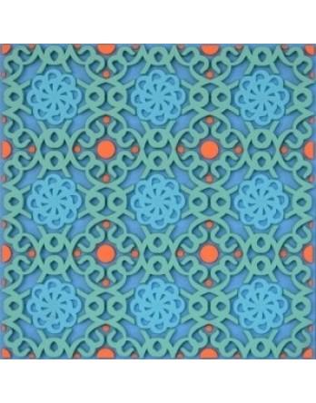 Images Oriënt onderzetter Dalida blauw