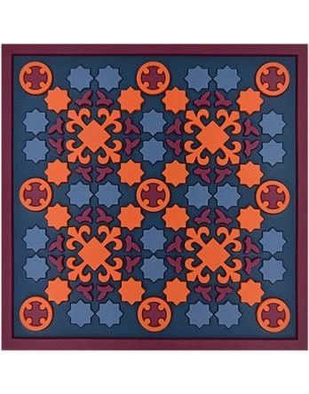 Images Oriënt trivet / pan onderzetter Broderie Soie