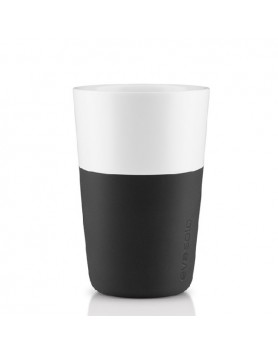 Eva Solo Café Latte mok 360ml - zwart - set 2 st